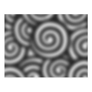 Blur me swirly postcard