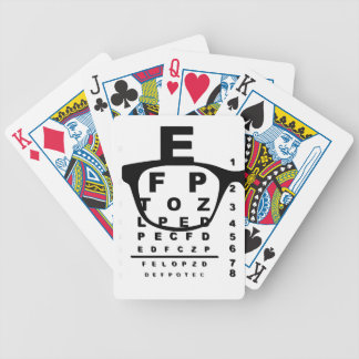 Blurr Eye Test Chart Bicycle Playing Cards