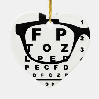 Blurr Eye Test Chart Ceramic Ornament