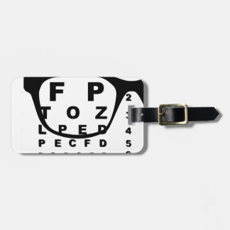 Blurr Eye Test Chart Luggage Tag