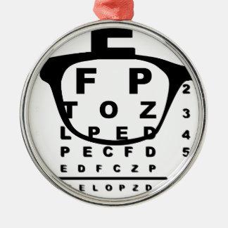 Blurr Eye Test Chart Metal Ornament