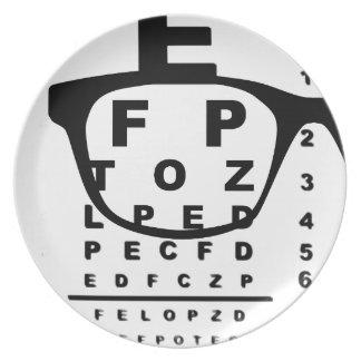 Blurr Eye Test Chart Plate