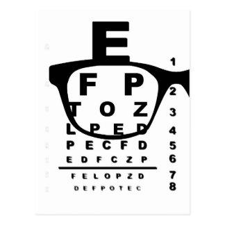Blurr Eye Test Chart Postcard