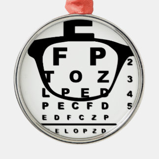 Blurr Eye Test Chart Silver-Colored Round Ornament