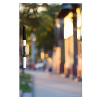 Blurred and out of focus image of streets Dry-Erase whiteboards