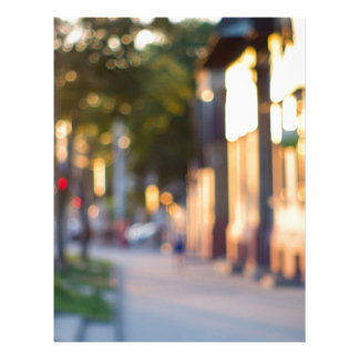 Blurred and out of focus image of streets letterhead design