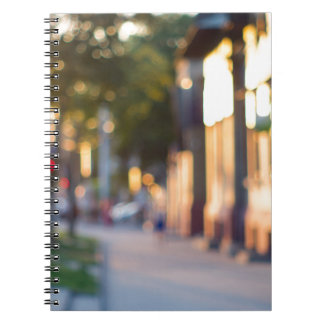 Blurred and out of focus image of streets note book