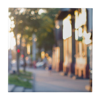 Blurred and out of focus image of streets tiles