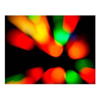 Blurred color background postcard