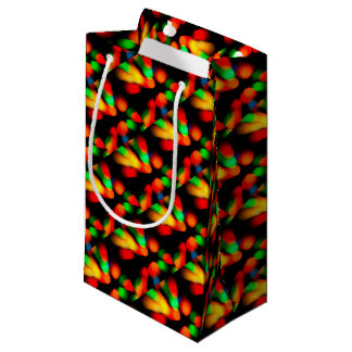 Blurred color background small gift bag