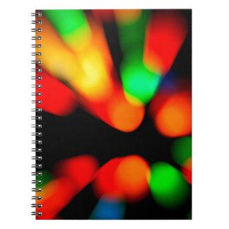 Blurred color background spiral notebook