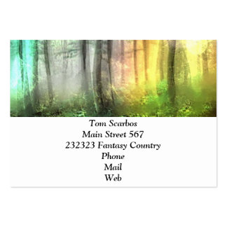 Blurred forest business card template