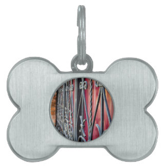 Blurred fragment of an ancient building pet tag