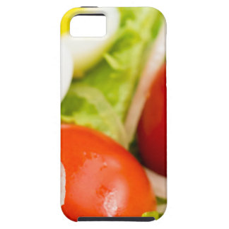 Blurred image of cherry tomatoes in a salad iPhone 5 covers