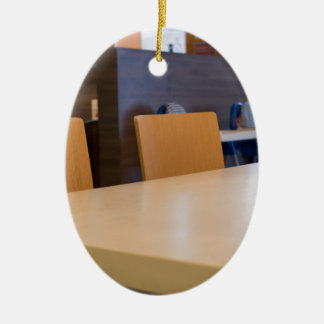 Blurred image of the interior cafe ceramic ornament