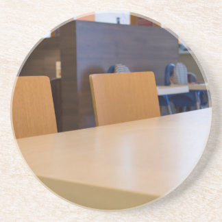 Blurred image of the interior cafe coaster