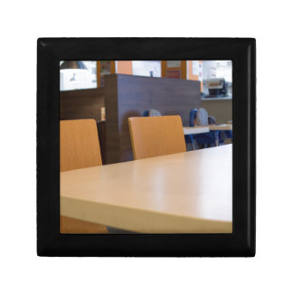 Blurred image of the interior cafe gift box