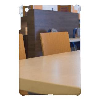 Blurred image of the interior cafe iPad mini case