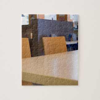 Blurred image of the interior cafe jigsaw puzzle