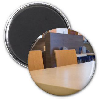 Blurred image of the interior cafe magnet