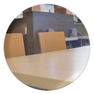 Blurred image of the interior cafe plate