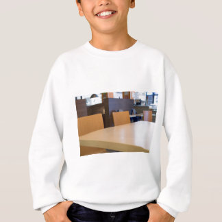 Blurred image of the interior cafe sweatshirt