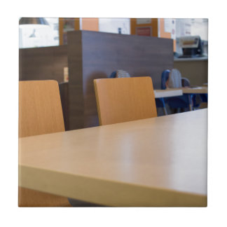 Blurred image of the interior cafe tile