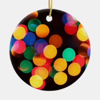 Blurred Lights Christmas Ornament