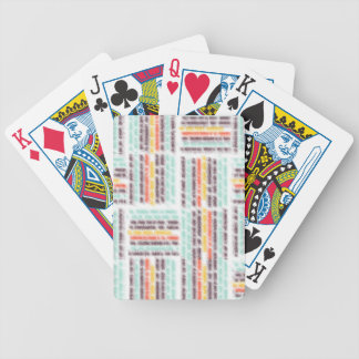 Blurred lines bicycle playing cards