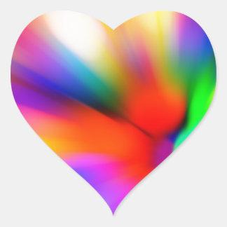 Blurred multi color lights heart sticker