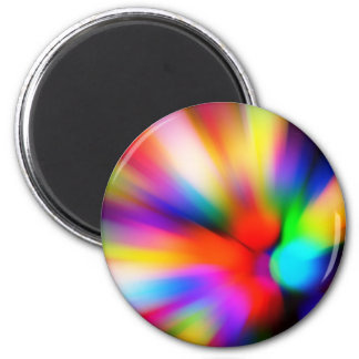 Blurred multi color lights magnet