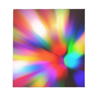 Blurred multi color lights notepad