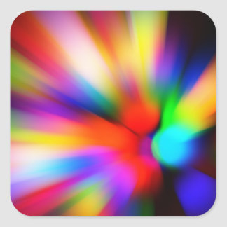 Blurred multi color lights square sticker