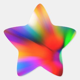 Blurred multi color lights star sticker