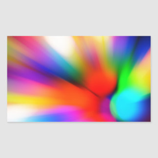 Blurred multi color lights sticker