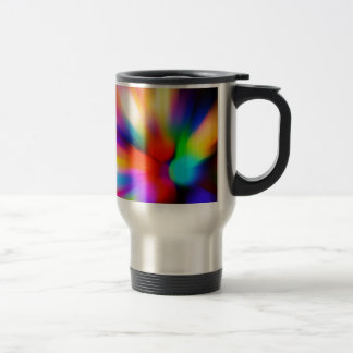 Blurred multi color lights travel mug