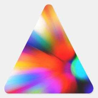Blurred multi color lights triangle sticker