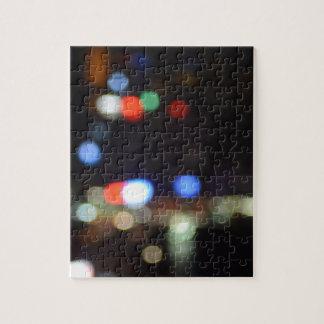 Blurred Night Lights of Hong Kong Jigsaw Puzzle
