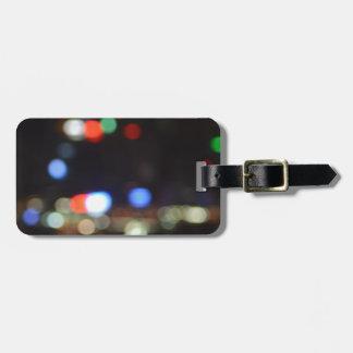 Blurred Night Lights of Hong Kong Luggage Tag