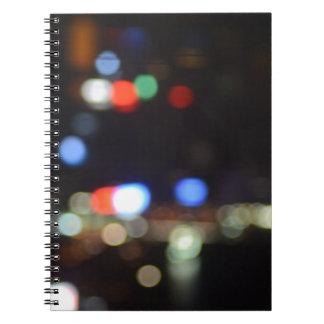 Blurred Night Lights of Hong Kong Notebook