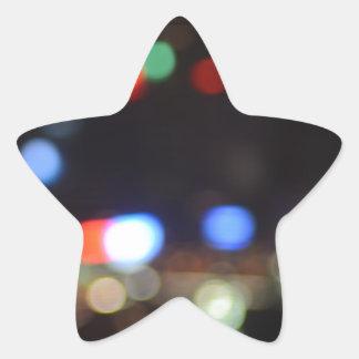Blurred Night Lights of Hong Kong Star Sticker