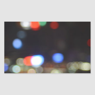 Blurred Night Lights of Hong Kong Sticker