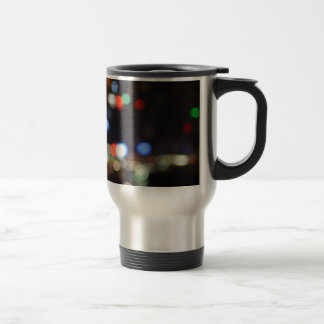 Blurred Night Lights of Hong Kong Travel Mug