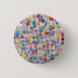Blurred Squares 1 Inch Round Button