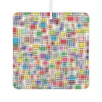 Blurred Squares Air Freshener