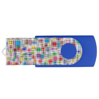 Blurred Squares USB Flash Drive