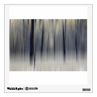 Blurred Wintry Wood Wall Decal