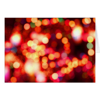 blurry holiday lights card