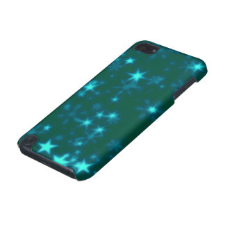 Blurry Stars teal iPod Touch (5th Generation) Cases