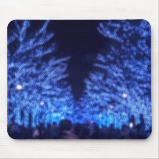 Blurry Winter Illumination Mouse Pad